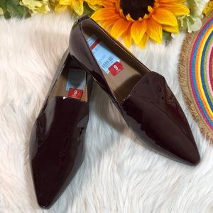 Calvin Klein Elin Pointed-Toe Patent Flats 9